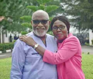 Check Out These Loved Up Photos Of Ondo Governor, Akeredolu & His Wife, Betty
